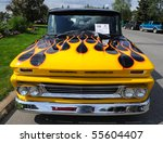 "FAIRBANKS, AK - JUNE 19: ""1960 Chevy Pickup, 2010 Alaska Midnight Sun Cruise-In Auto Show June 19, 2010 in Fairbanks, Alaska - stock photo"