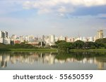Skyline of Sao Paulo, Brasil. - stock photo