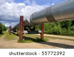 Trans Alaska Oil Pipeline - stock photo