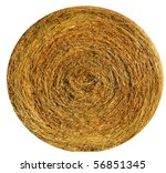 Hay ball background - stock photo