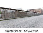 The remains of berlin wall in Berlin Gemany - stock photo