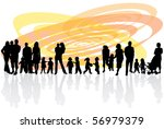 Family and abstract vector - stock vector