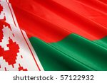 Flag of Belarus - stock photo