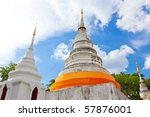 Wat Phra Singha Temple Chiangmai Thailand - stock photo