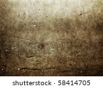 red brown grunge wall - stock photo