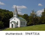Old fashioned country church - stock photo