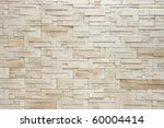 Pattern of White Modern stone Brick Wall Surfaced - stock photo