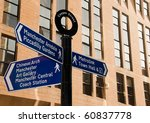 Street sign in Manchester, UK - stock photo