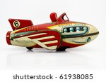 retro rocket toy - stock photo