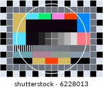 TV transmission test card for adjusting and tuning a television - stock vector