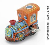old tin toy train - stock photo