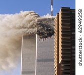 World Trade Center September 11, 2001 - stock photo
