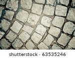 Cobblestone pattern - stock photo