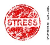 stress label - stock vector