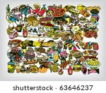 Tasty Food Vector BG - stock vector