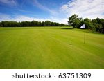 Golf course on Bornholm Island, Europe, Denmark - stock photo