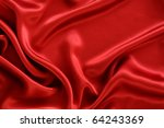 Red satin textile background - stock photo