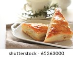 Triangle Meat Pie - stock photo