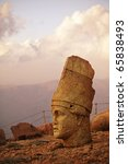 Nemrut Dagi heats in Turkey - stock photo