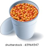 Can of Beans - stock vector