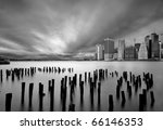manhattan from brooklyn - stock photo
