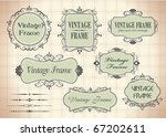 vintage frames for your text - stock vector