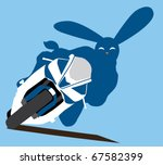 Conceptual illustration. Motorcycling. Year 2011 - rabbit. - stock vector