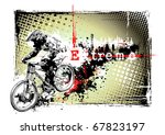extreme bike poster - stock vector