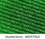 random characters and numbers - stock photo