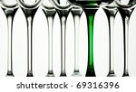 glass legs against white background - stock photo