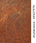 rusty metal background closeup - stock photo