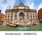Fontana di Trevi, Rome, Italy. - stock photo
