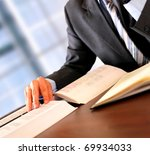 Businessman working - stock photo