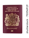 United Kingdom of Great Britain and Northern Ireland Passport - stock photo