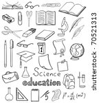 science and education icons vector collection - stock vector