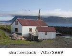 Fisherman's hut in Iceland - stock photo