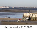 a seaside view of Margate harbour in Kent England - stock photo