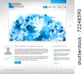 white website template - portfolio presentation for artists, designers,  photographers - stock vector