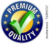 Premium Quality Button/Label - stock photo