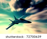 Fighter plane - stock photo