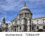St. Paul's Cathedral from the south - stock photo