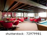 Billiard room - stock photo