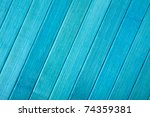 Bright blue wooden planks background - stock photo