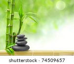 spa concept zen basalt stones - stock photo