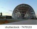 Berlin Reichstag, glass dome - stock photo