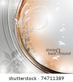 Elegantly shining background, eps10 format - stock vector