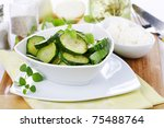 squash salad appetizer - stock photo