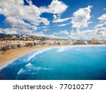 Beach Coast at spain,(Peñiscola) - stock photo