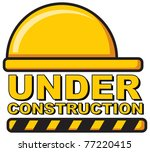 illustration of under construction - stock vector