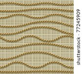 Seamless from ropes and matting (can be repeated and scaled in any size) - stock vector